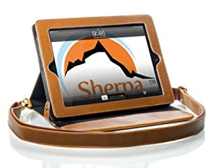 Shoulder Strap Carrying Case for iPad by Sherpa Carry - Camel