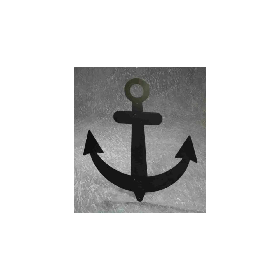 Handcrafted Black Metal Sailboat Ship Anchor 32 Decorative Nautical Wall Decor