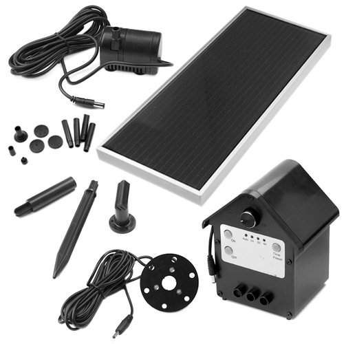 Solar Powered Outdoor 3 Wattgarden Water Pump Landscape