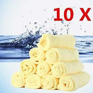 FindShop(TM) 10Pc Microfiber Kitchen Wash Auto Car Dry Polishing Cloth Cleaning Towel 30 * 30cm