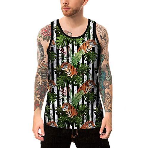(Dainzuy Men Tank Tops Fashion 3D Print Funny Pattern Casual Sleeveless T Shirts Summer Plus Size Sport Vest Tops)