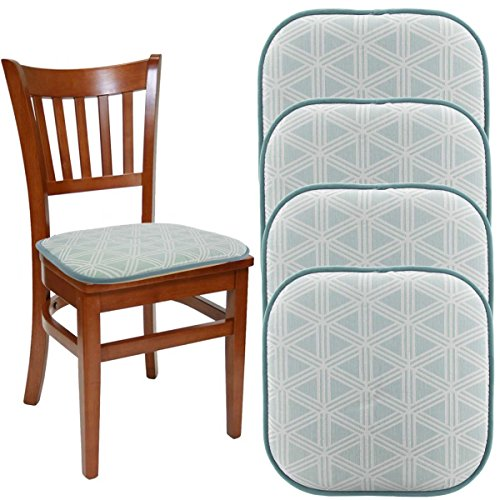 """Dream Home (Set Of 4) Nonslip Chair Pads For Office Chairs, 16"""" x 16"""" Indoor Memory Foam Seat Cushion For Kitchen Chairs, Seat Pillow For Rocking Chair, Dining Chair Pads, Pillows Seating Floors"""