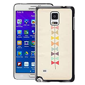 Planetar® ( Bowtie Pattern Beige Art ) Samsung Galaxy Note 4 IV / SM-N910 Fundas Cover Cubre Hard Case Cover