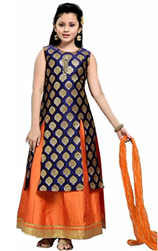 Kids-Salwar-Suit-with-Silk-Embroidered-Work-Fully-Stiched-Size-34-1011-years-Purple-Orange