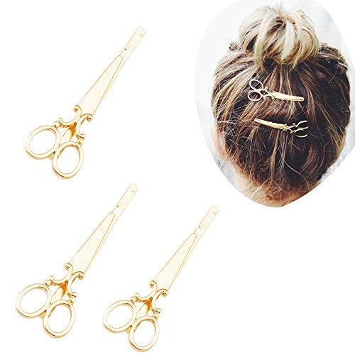 4pcs Vintage scissors Design Punk Women Girl Hair Clip Pin Claw Barrettes Accessories (Pack of 4)