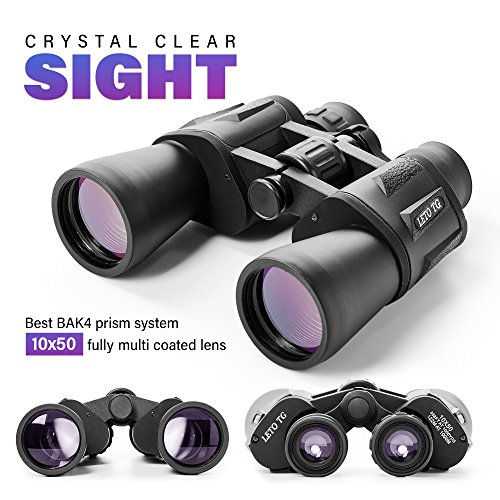 Premium 10 x 50 Binoculars With BK4 Prism For Bird Watching Safari...