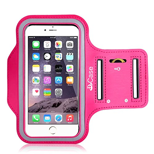 """iPhone 6 Armband,WIWIN Shocksock iPhone 6 Sport Armband Case, Sports Gym Bike Cycle Jogging Running Exercise Workout Armband Defender Cases with Key Pocket Custom Made for iPhone 6 4.7"""" Hotpink"""