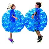 "Toyofmine Wearable Inflatable Bumper Balls 36"" - Bubble Soccer Suits- Set of Two (2) Balls 1 Air Pump- For Kids or Small Adults - Blow Up Toy in 5 Min. Boy Girl Outdoor Game"