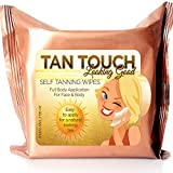 Tanning Bed for Home Tan Touch Bronze Quick Self Tanning Towelettes  Sunless Tanning Wipes-1,2, or 3 pack