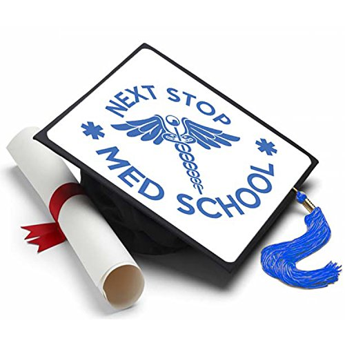 Tassel Toppers Next Stop Med School Graduation Cap Decorated Grad Caps - Decorating Kits ()