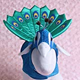 Peacock Design Pets Costume Halloween Christmas Animal Cosplay Clothes for Dog Cats Hat Cape 2piece Set Festival Dogs Products