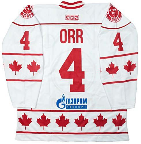 Bobby Orr Team Canada 40th Anniversary 1972 Summit Series White Hockey Jersey (60 (5X)) ()