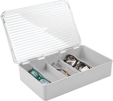 mDesign Juego de 2 cajas para gafas de sol – Clasificador de ...