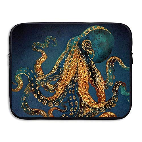 Beach Surfer Laptop Case, Octopus Ocean 13-15 Inch 13-15 Inch Laptop Sleeve, Water Repellent Universal Portable Computer Liner Case Laptop Sleeves Notebook Bag Cover for Women Men