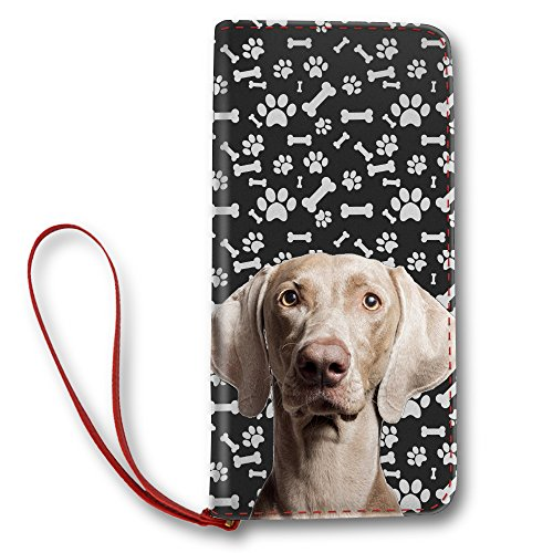 et Long Lady Clutch Purse with Weimaraner Puppy Paw ()