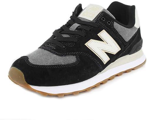 new balance 574 uomo nero pelle