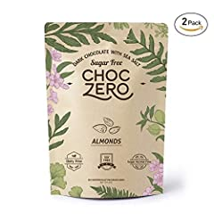 Chocolate with a crunch.       Creamy,  stone-ground dark chocolate and roasted almonds  make for a perfect marriage of flavors for our artisanal dark chocolate almond bark  flavor!. Like all ChocZero products,  it's low in net carbs and cont...