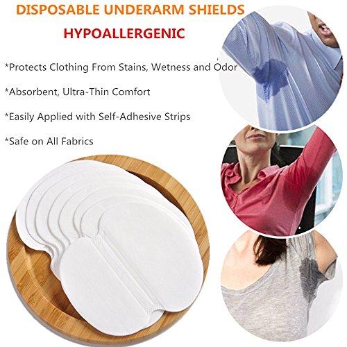 Disposable Underarm Dress Shields, COSCOD Pure Pads Antiperspirant Adhesive Underarm Pads,100PCS Armpit pad Comfortable & Discreet & Sweat Free & Odor Free