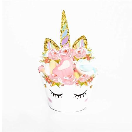 Surenhap - Cupcake Toppers con diseño de Unicornio para ...