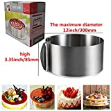 Uncle Jack Adjustable Cake Mousse Mould Stainless