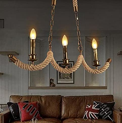 SSBY American loft study industrial wind-wave ropes rope ...