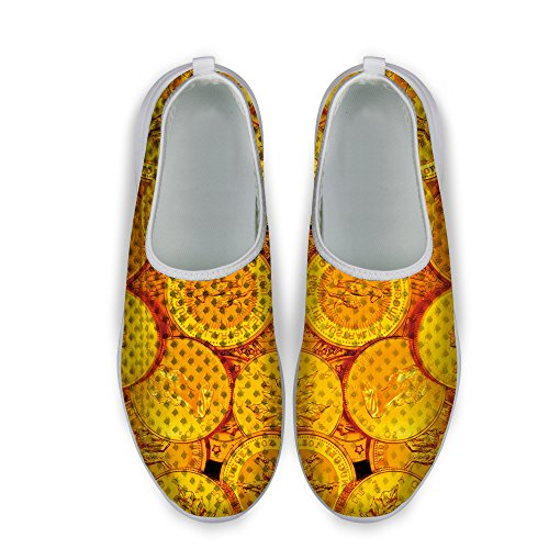 Yellow 1 Print Casual Sneaker FOR Mesh U Running Stylish Coin Shoes Unisexs DESIGNS Dollar w0Z7O0pq