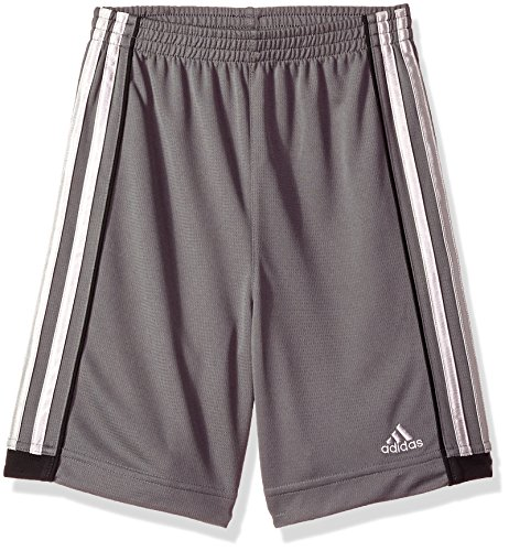 adidas Boys' Toddler Athletic Sports Short, Speed 18 Grey Five, 3T
