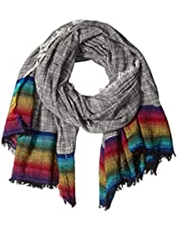 Steve Madden Women's Rainbow Hem Scarf with Fringe