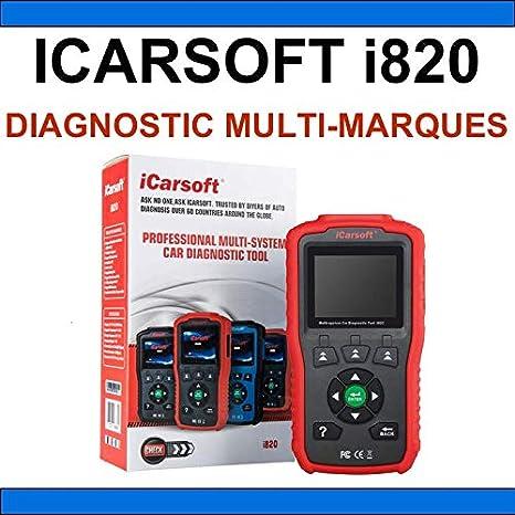 iCarsoft i800 Valise Diagnostique Pro Multimarque 100/% Français Obd2
