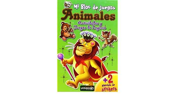 MI BLOC DE JUEGOS:ANIMALES: AA.VV.: 9789974697775: Amazon ...