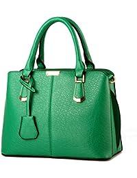 women handbags PU leather top handle satchel tote purse shoulder bags