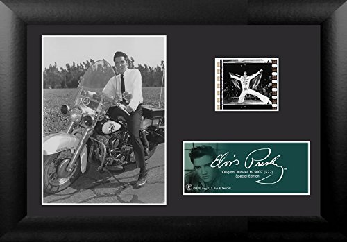 Elvis Presley Film - Film Cell USFC5007 Elvis Presley on Harley Davidson Police Cycle S22 Minicell Framed & Matted