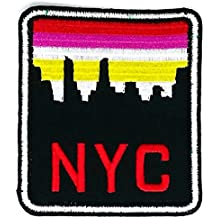2.3 inches x 2.75 inches NYC New York City Cartoon Sew Iron on Embroidered Applique Craft Handmade Baby Kid Girl Women Cloths DIY Costume Accessories