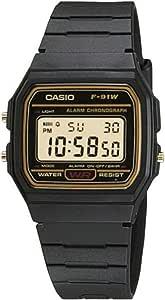 CASIO Reloj Hombre de Digital con Correa en Resina F-91WG-9QEF