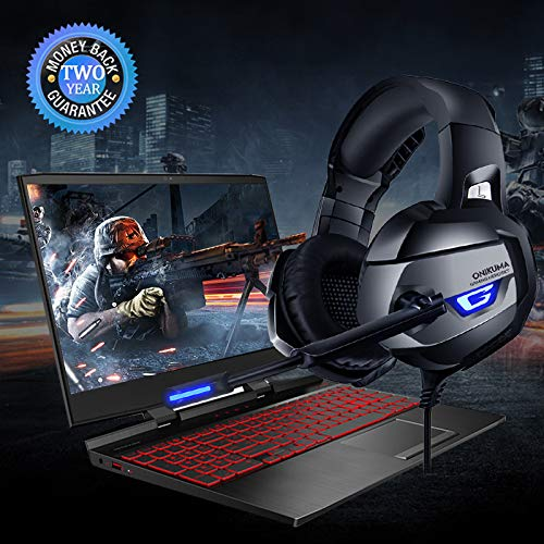 ONIKUMA Gaming Headset for PS4, Xbox One, PC, Gaming Headphones with 7.1 Stereo Surround Sound, Updated Noise Cancelling Mic, PS4 Headset Xbox Headset with Mute & Volume Control for Mac, Laptop, NS by ONIKUMA (Image #7)