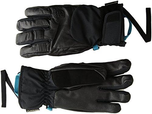 Salomon Women's QST GTX Gloves, Black, Medium (Salomon Ski Gloves)