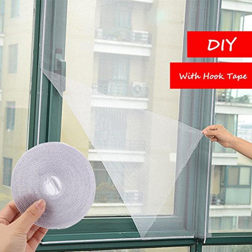 150x130cm Insect Fly Mosquito Bug Window Mesh Screen White - 7