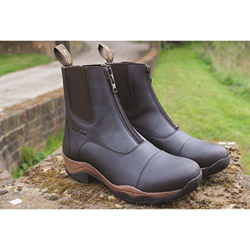 Mark Todd Adults Leather Milford Zip Jodhpur Boots Brown 9PpB23