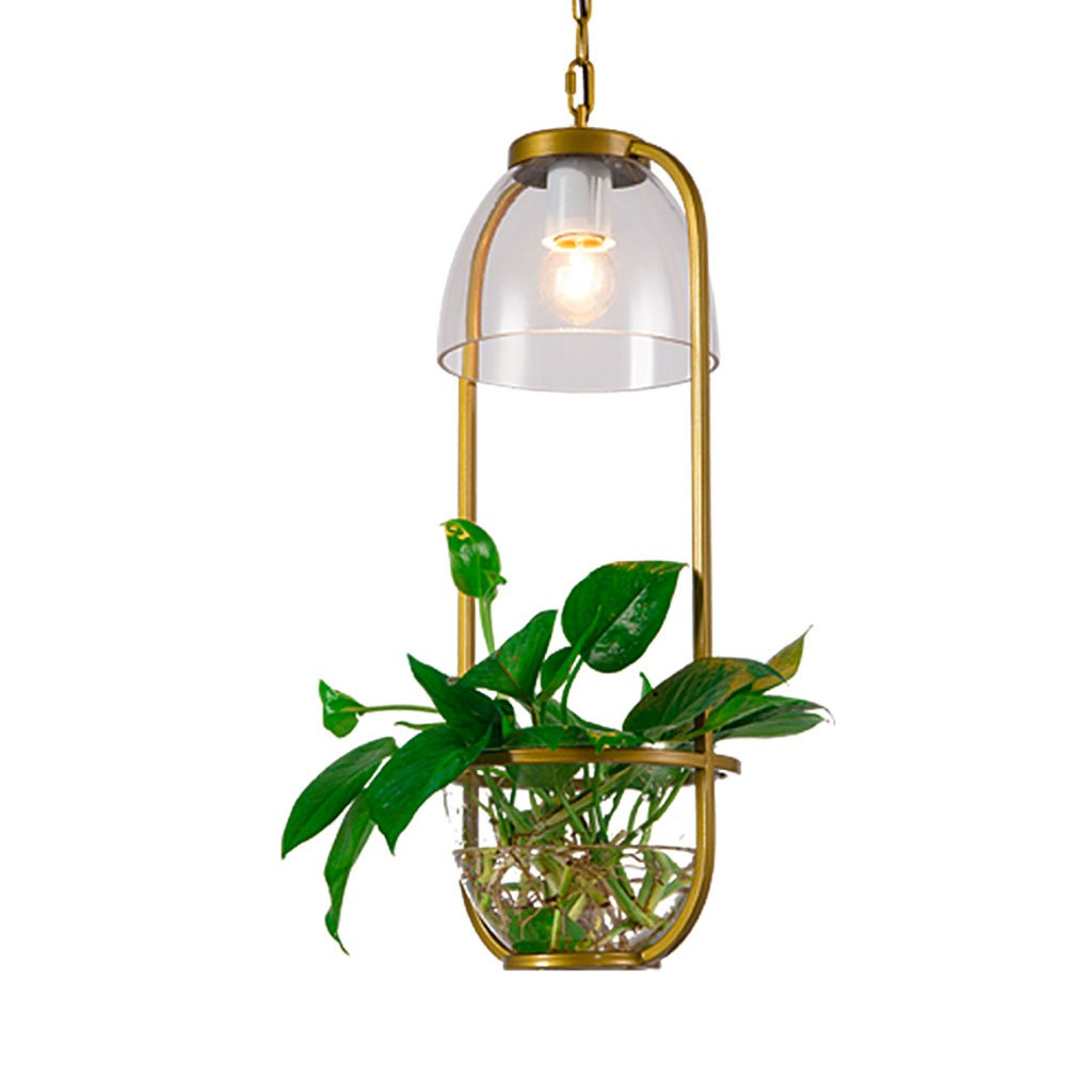 @Kronleuchter Glasleuchter Kreative Bar Beleuchtung Wohnzimmer Cafe Pflanze Kronleuchter  Hängeleuchte