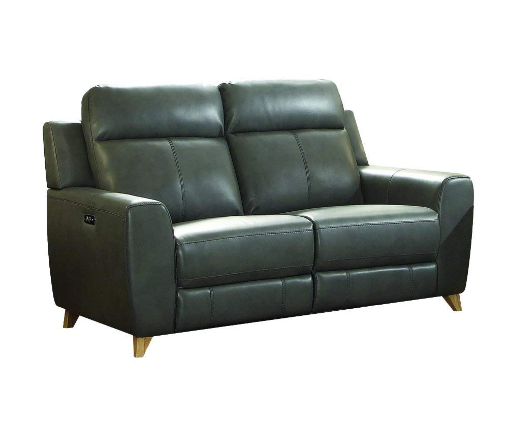 Super Amazon Com Acme Cayden Gray Leather Aire Power Reclining Theyellowbook Wood Chair Design Ideas Theyellowbookinfo