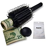 Diversion Safe Hair Brush by Stash-it, Can Safe to Hide Money, Jewelry, or Valuables with Discreet Secret Removable Lid and Bonus Smell Proof Bag