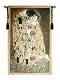 Kiss of Klimt Italian Wall Hanging Woven Tapestry