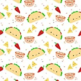 Tacos Fabric - Taco Tuesday by clayvision - Tacos Fabric with Spoonflower - Printed on Basic Cotton Ultra Fabric by the Yard offers