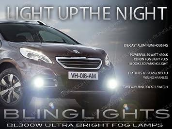 For Peugeot 2008 2013-2016 High Main Beam H7 Xenon Headlight Bulbs Pair Lamp