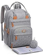 Verkleedtas Rugzak, WELAVILA Baby Luiertas, Unisex Travel Back Pack met Aankleedmat & Fopspeenhouder voor mama & papa