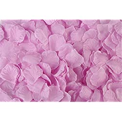 Vivianbuy 2000 PCS Artificial Silk Flower Lilac Rose Petals for Wedding Party Bridal Decoration