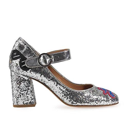 Plata Purpurina Moschino JA10048C15IHO902 Love Altos Zapatos Mujer xqtnwwF