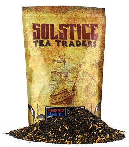 Passionfruit Flavored Loose Leaf Black Tea (8-Ounce Bulk Bag), Makes 150+ Cups of Passion Fruit Tea