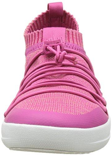 Collo Donna Alto dusky A Slip Sneaker Sneakers fuchsia Multicolour on Ghillie Pink Fitflop Uberknit aqpx0