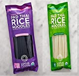 Lotus Food Variety Pack of Pad Thai Noodles, 2 of each, Brown Rice, Forbidden and Traditional